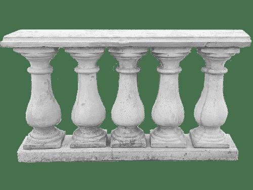 balaustra bassa cemento esempio di montaggio