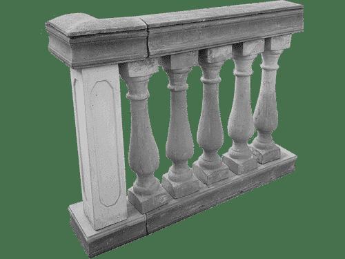 balaustra cemento esempio di montaggio pilastro interno