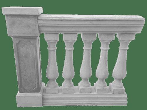 balaustra cemento pilastro esterno