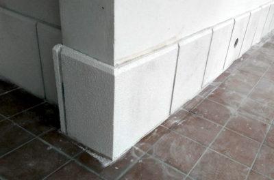 balse cemento antiumido e battiscopa esempio montaggio