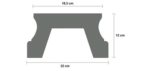 base cemento balaustra art 148 sezione
