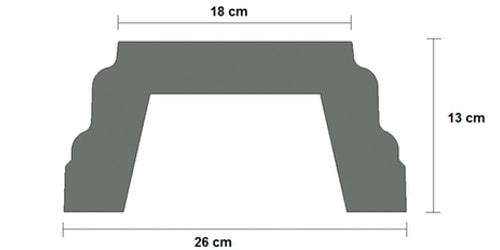 base cemento balaustra art 151 sezione