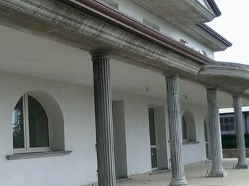 cornice cemento terrazzo installato