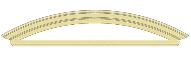 elementi architettonici in polistirolo timpano tondo