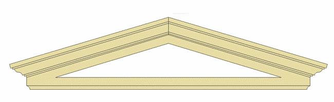 elementi architettonici in polistirolo timpano triangolare