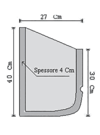 fioriera appoggio cemento art 4 sezione